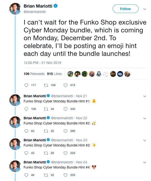 Funko 12 Days of Christmas Bundle Hints
