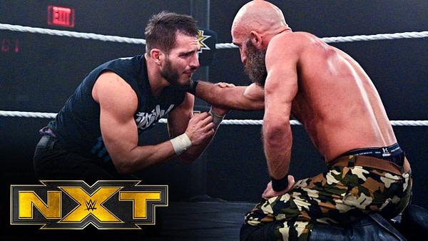 Tommaso Ciampa contre Johnny Gargano sur NXT, gracieuseté de la WWE.