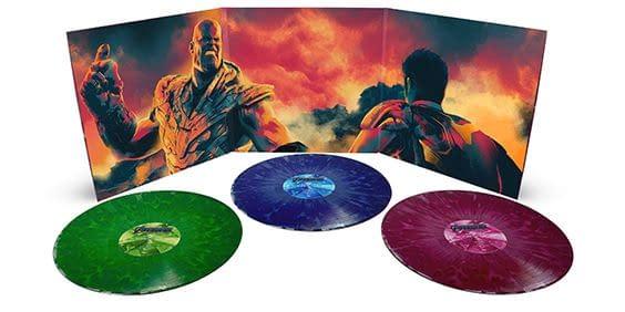 Mondo Avengers Endgame score vinyl cover.
