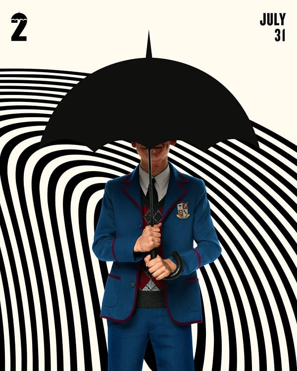 When are they? The Umbrella Academy, courtesy of Netflix.