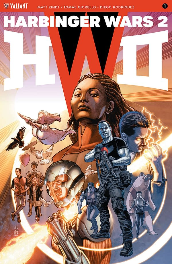 Harbinger Wars II #1 cover by JG Jones and Andrew Dalhouse