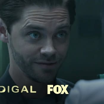 Tom Payne in the season finale of Prodigal Son, courtesy of FOX.