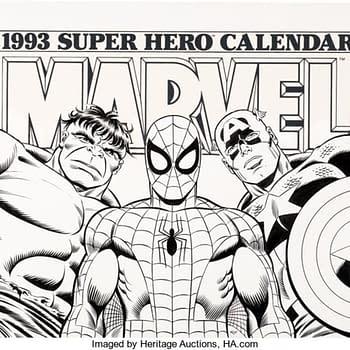 Awesome 1993 Marvel Calendar Art By John Romita Sr. Up For Auction