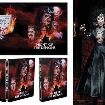 Night of the Demons Scream factory Steelbook with Angela NECA Figure 1
