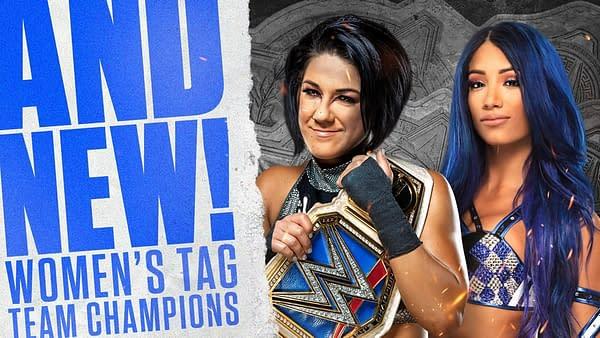 Sasha Banks and Bayley are your new tag-team champs (Image: WWE)