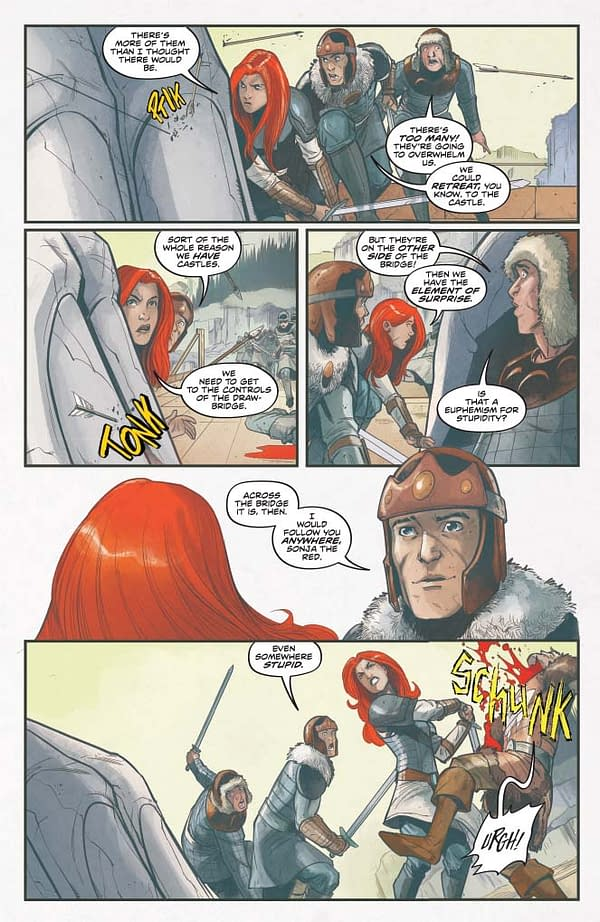 Mark Russell Writer's Commentary on Red Sonja #15.