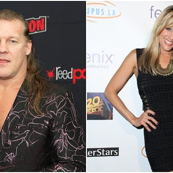 L-R: Chris Jericho of TNT sereis All Elite Wrestling: Dynamite attends press briefing New York Comic Con at Jacob Javits Center. Editorial credit: lev radin / Shutterstock.com | Lilian Garcia at the Get Lucky for Lupus Poker Tournament at Avalon Hollywood on September 18, 2014 in Los Angeles, CA. Editorial credit: Kathy Hutchins / Shutterstock.com