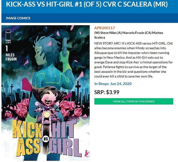 It's Kick-Ass Vs Hit-Girl From Steve Niles and Marcelo Frusin in June