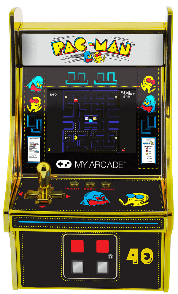 Who doesn't want to play Pac-man with a golden joystick? Courtesy of My Arcade.