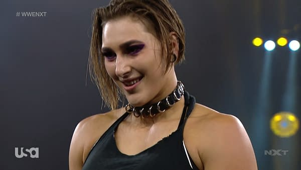 Rhea Ripley victorious on NXT