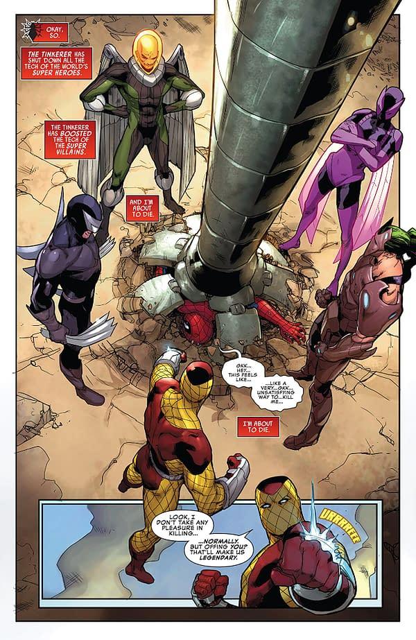 Peter Parker: The Spectacular Spider-Man #300 art by Adam Kubert, Juan Frigeri, and Jason Keith