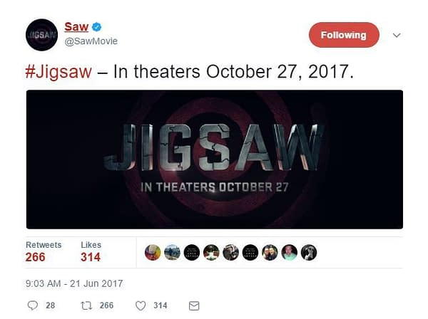 'Jigsaw': Eighth 'Saw' Filmed Officially Named