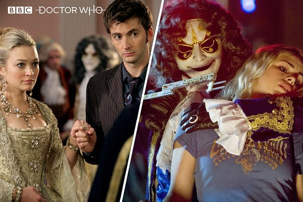 Scenes from Doctor Who episode The Girl in the Fireplace, courtesy of BBC.