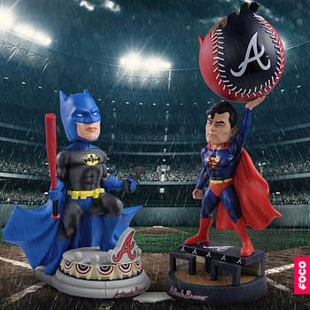 FOCO DC Comics X MLB Bobblehead Batman and Superman