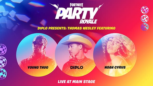 Diplo, Young Thug, and Noah Cyrus will be in the next Party Royale, courtesy of Epic Games.