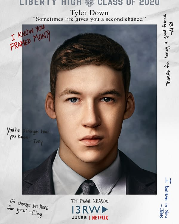 Tyler has secrets in 13 Reasons Why, courtesy of Netflix.