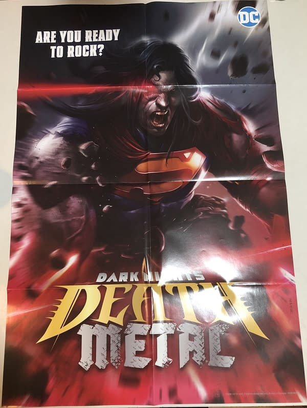 Death Metal #1 Superman Variant Cover Promotional Poster