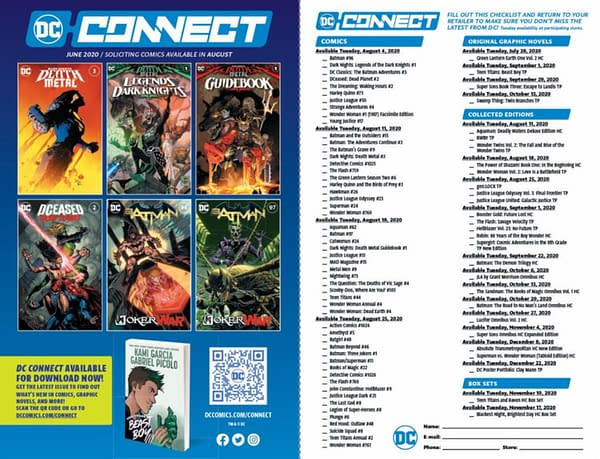 DC Comics Replaces Print Previews With Checklist Posters.