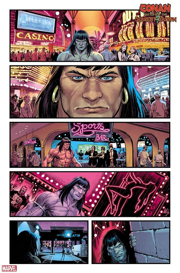 Conan Takes a Vegas Vacation for Some Reason in This Battle for the Serpent Crown First Look