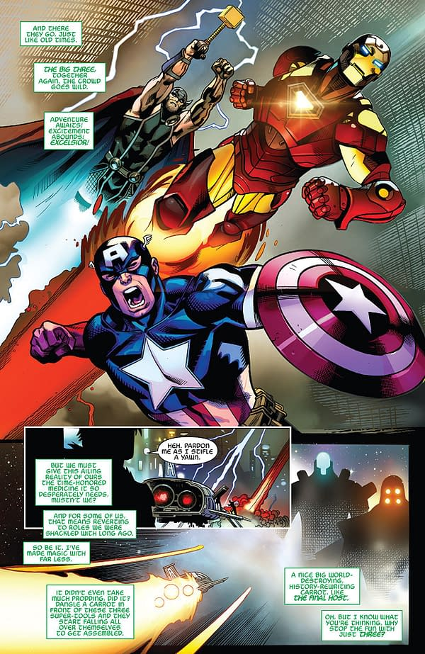 Avengers #2 art by Ed McGuinness, Mark Morales, Jay Leisten, and David Curiel
