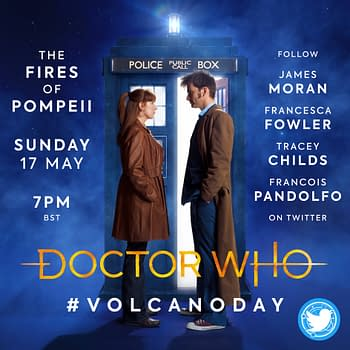 "Sunday's Doctor Who Lockdown focused on ""The Fires of Pompeii"", courtesy of BBC Studios."