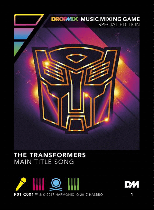 PAX West Attendees Will Be Able To Pick Up An Exclusive Transformers Song Card For DropMix