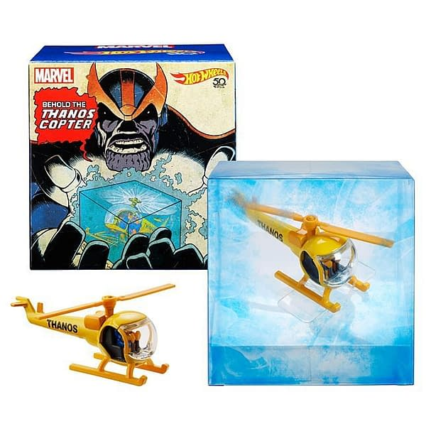 Mattel SDCC Exclusive Marvel Hot Wheels Thanos Copter Set