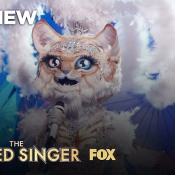 Kitty takes the stage on The Masked Singer, courtesy of FOX.