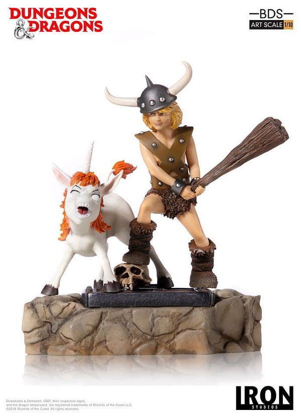 Dungeons and Dragons Cartoon Bobby and Uni Statue