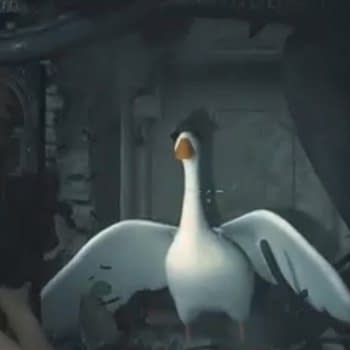 "The ""Untitled Goose Game"" Goose Terrifies ""Resident Evil 2's"" Leon and Claire"