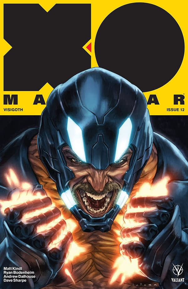 X-O Manowar #12 cover by Lewis Larosa