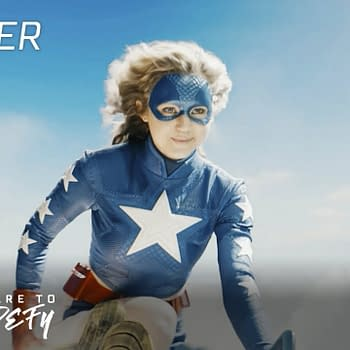 Courtney Whitmore takes to the skies in Stargirl, courtesy of The CW.