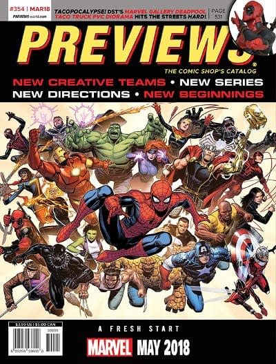 Marvel's Fresh Start and Rick Remender and Bengal's Death Or Glory on Front of Next Week's Diamond Previews