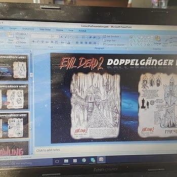 Sneak Peek At Space Goats Presentation To ComicsPRO &#8211 Evil Dead 2 The Howling And Ted Naifehs Superheroines