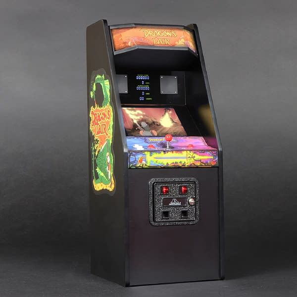 A look at the Dragon's Lair cabinet, courtesy of New Wave Toys.