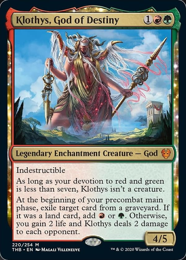 """Klothys, God of Destiny"" Card Revealed - ""Magic: The Gathering"""