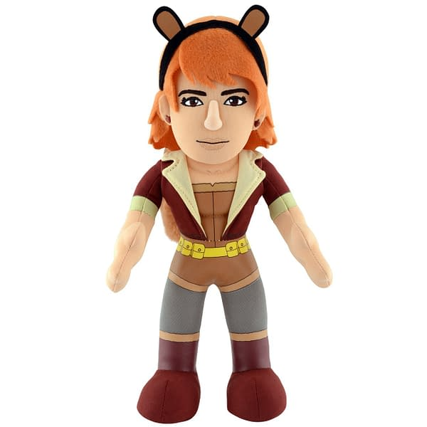 An image of a plushy cuddly doll version of Squirrel Girl from the Bleacher Creatures range