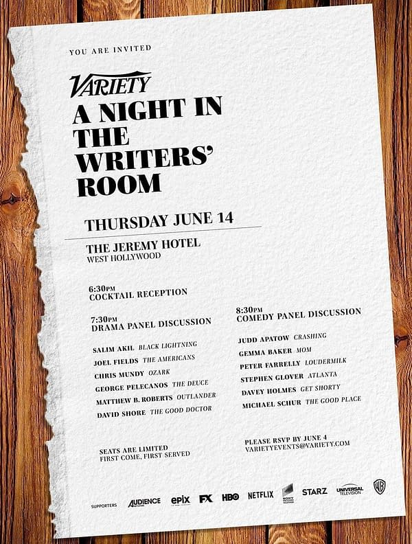 1 Female Writer out of 12: Variety's A Night in the Writers' Room Event