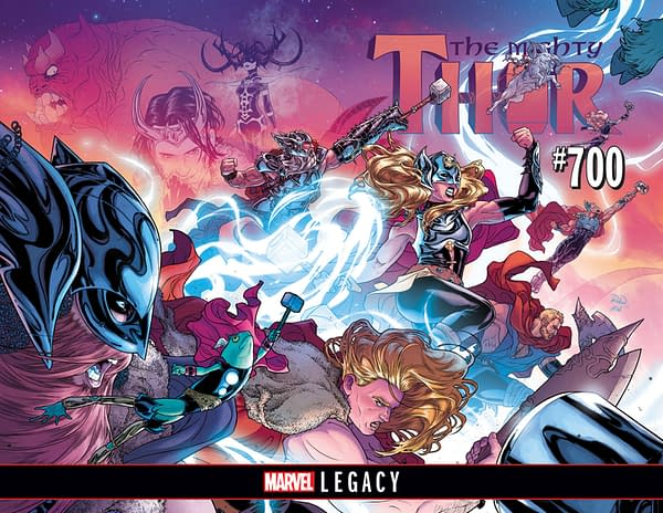 The Mighty Thor #700 full cover by Russell Dauterman and Matthew Wilson