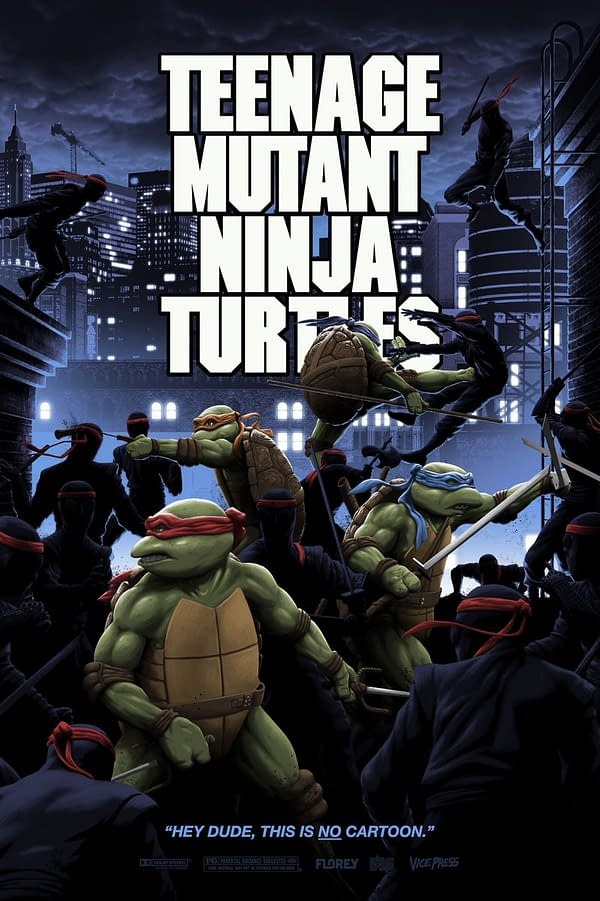 TMNT 1990 Immortalized With New Bottleneck Gallery Poster By Florey