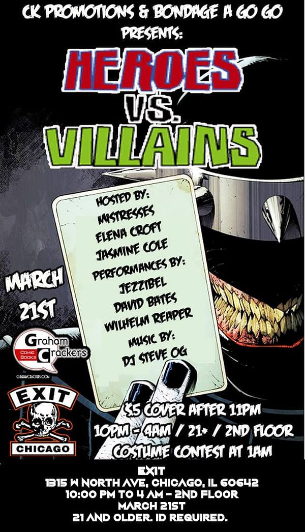 Graham Crackers Comics Welcomes C2E2 With a Night of Bondage