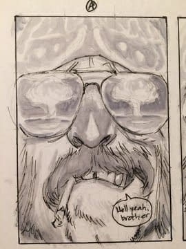 Scumbag #1 Cover Process Picture 1