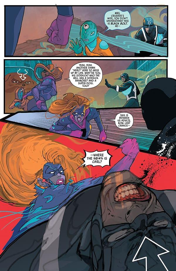 Black Bolt #9 art by Christian Ward