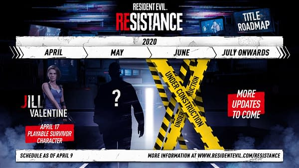 A look at the Resident Evil Resistance roadmap, courtesy of Capcom.