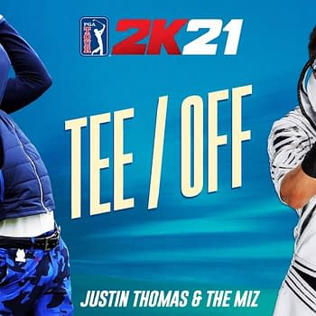 PGA TOUR® 2K21 Cover Athlete Justin Thomas and WWE Superstar The Miz