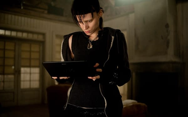 Rooney Mara as Salander in The Girl With the Dragon Tattoo, courtesy of Sony Pictures.