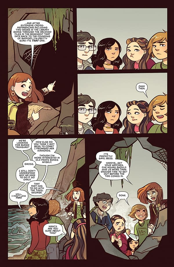 Nancy Drew #2 art by Jenn St-Onge and Triona Farrell