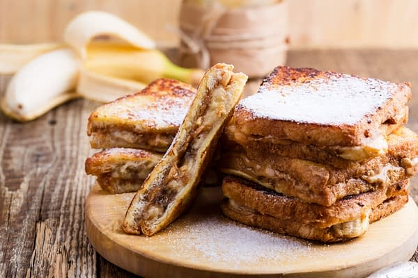 Chocolate, Peanut Butter, and Banana French Toast from Disney, courtesy of Shutterstock.com.
