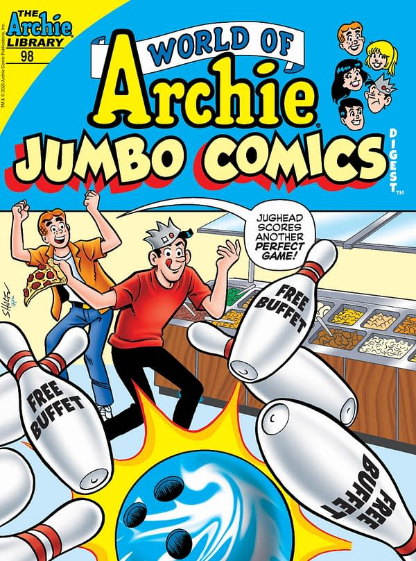 The Cover to World of Archie Jumbo Comics Digest #98, featuring art by Jeff Shultz and Rosario