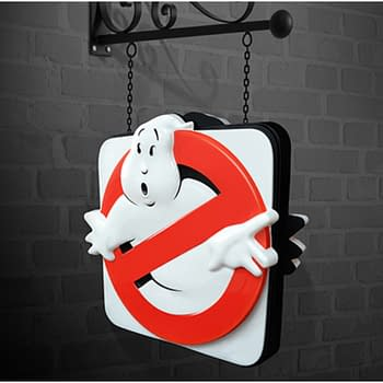 """Ghostbusters"" Replica Firehouse Sign Hollywood Collectibles for Sale"